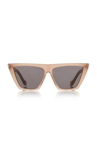 Trapezium Grande Cat-Eye Acetate Sunglasses