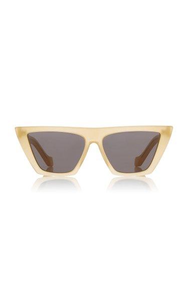 Trapezium Cat-Eye Acetate Sunglasses