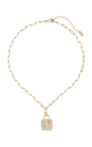 Bowie Crystal-Embellished 18K Gold-Plated Necklace