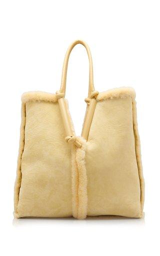 Reversible Oversized Shearling Tote Bag