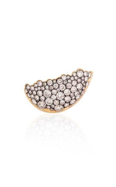 Fuse 18K Yellow Gold Diamond Single Earring
