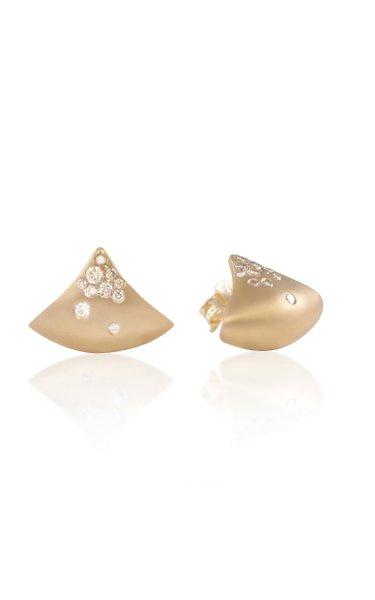Fuse 18K Yellow Gold Diamond Earrings