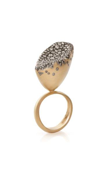 Baby Malak Flourish 18K Yellow Gold Diamond Big Ring