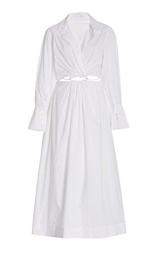 Alex Cutout Poplin Maxi Shirt Dress