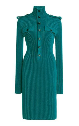 Ribbed Velvet Midi Dress