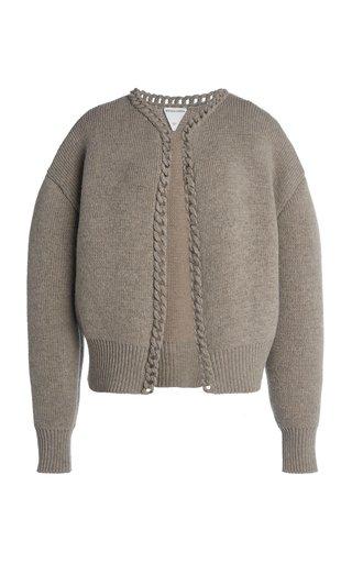 Chain-Detailed Wool Cardigan