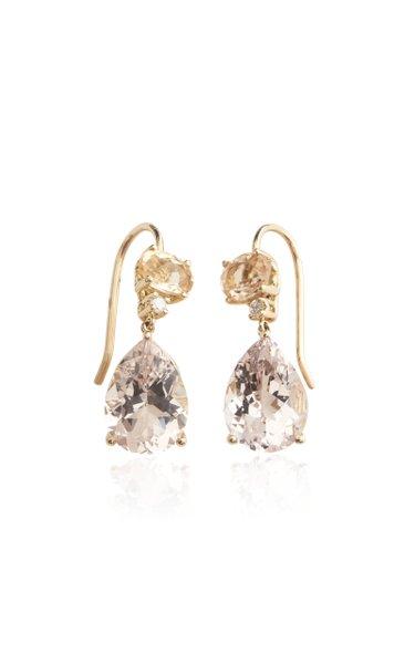 18K Yellow Gold Multi-Stone Earrings