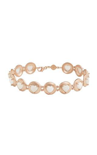 18K Rose Gold Opal Bracelet