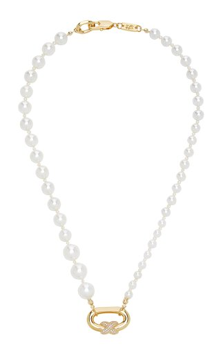 Tied Pearl 14K Yellow Gold-Plated Necklace