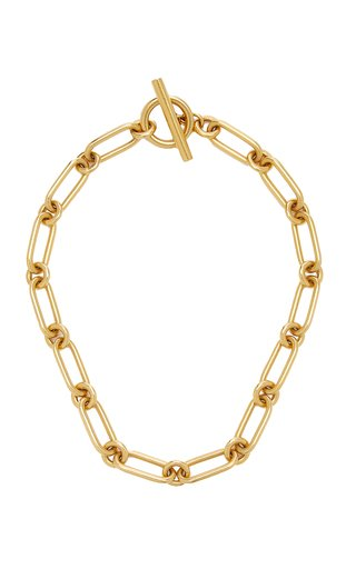 Gold-Plated Link Necklace