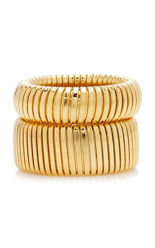 Exclusive Cobra Gold-Plated Ring Set