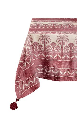 Rectangular Earthy Marsala Nuquí Tablecloth