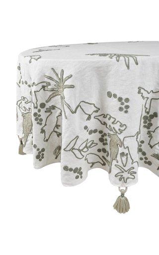 Round Palm Mist Esperanza Tablecloth