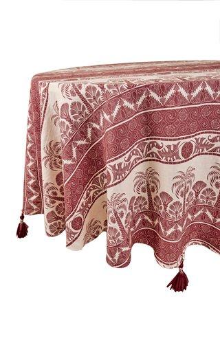 Round Earthy Marsala Nuquí Tablecloth