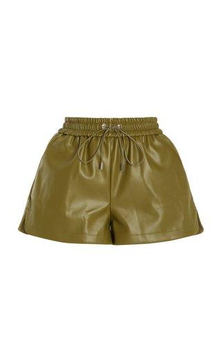 Agata Faux Leather Drawstring Shorts