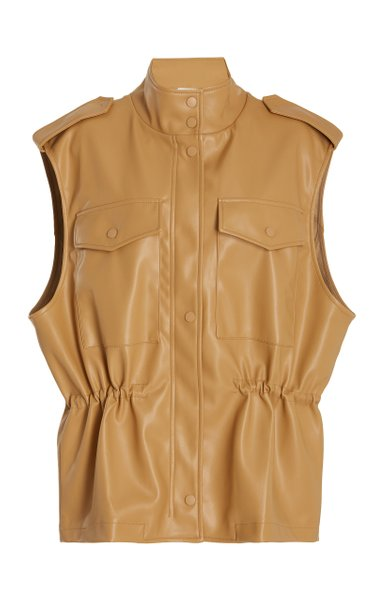 Ines Faux Leather Cargo Vest