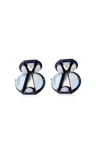 Nakard Infinity Sterling Silver Moonstone Earrings