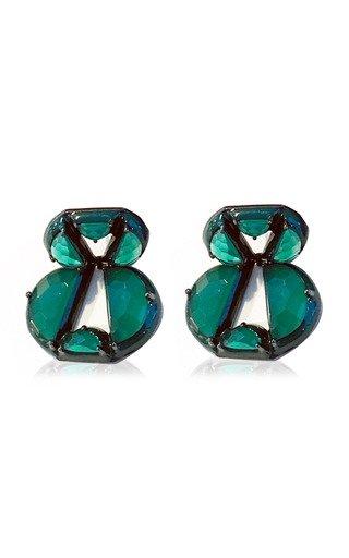 Nakard Infinity Sterling Silver Onyx Earrings