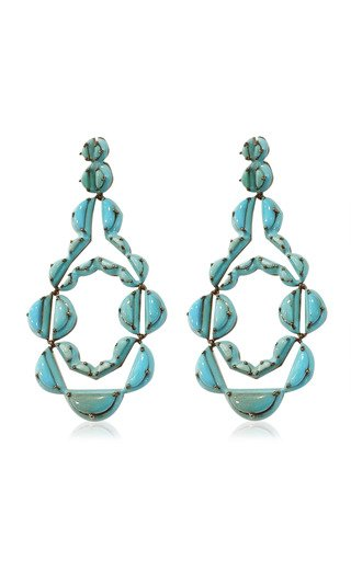 Nakard Vienna Sterling Silver Turquoise Earrings