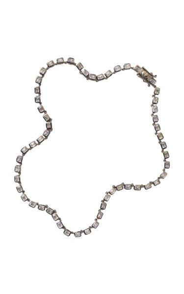 Nakard Mini Deco Sterling Silver Zircon Necklace