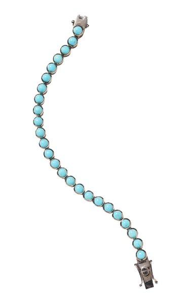 Nakard Mini Dot Sterling Silver Turquoise Bracelet
