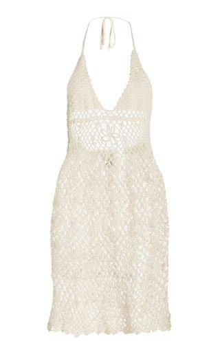 Jepun Crocheted Cotton Mini Dress