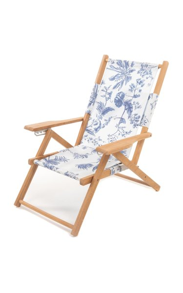 Tommy Printed Canvas Beach Chair