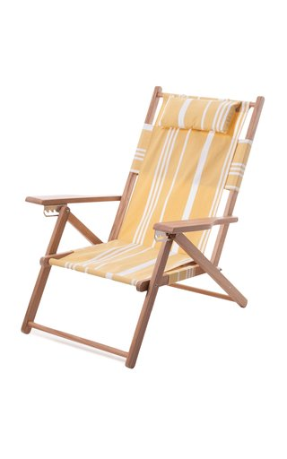 Tommy Striped Canvas Beach Chair