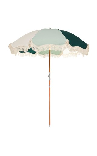 Premium Fringed Canvas Beach Umbrella