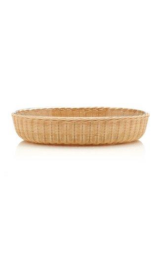 Rattan/Pyrex Oval Platter Large