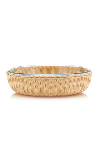 Rattan/Pyrex Round Dish