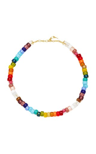 Big Nuanua Gold-Plated Resin, Glass and Pearl Necklace