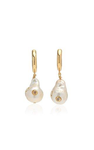 Gertrude Pearl Hoop Earrings