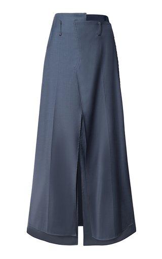 Layered Woven Maxi Skirt