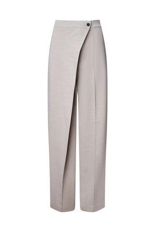 Layered Wool-Blend Straight-Leg Trousers