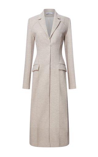 Raw-Cut Wool Longline Coat