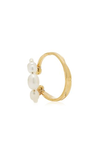 Hanna Gold-Plated and Pearl Ear Cuff