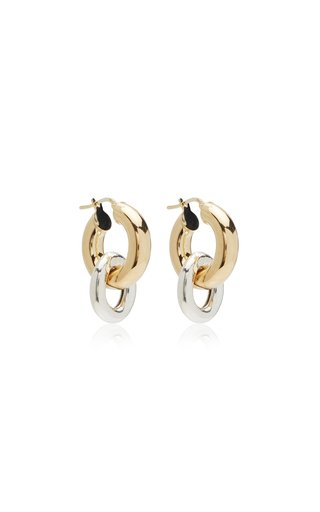 Elisha Gold-Plated Drop Hoop Earrings