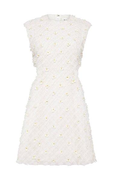 Mirage Embellished Cutout Organza Mini Dress