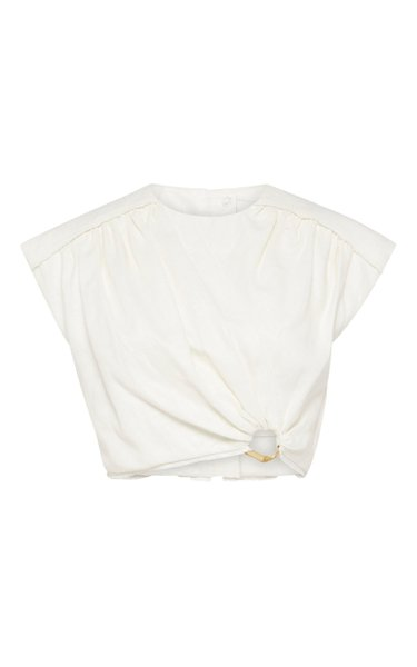 Byblos Linen Cropped Top