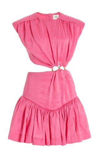 Le Mempris Cutout Cotton Mini Dress