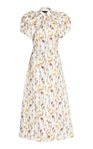 Iris Open-Back Cotton Midi Dress