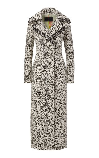 Leopard Jacquard Long Coat