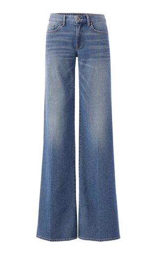 Rigid Low-Rise Wide-Leg Jeans