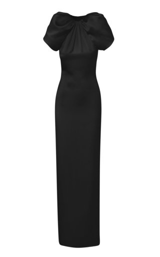 Open-Back Silk Gown