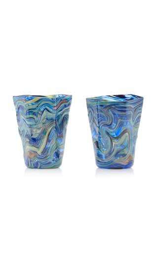 Set-Of-Two Calcedonio Water Glasses