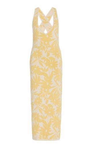 Amari Floral Jacquard Midi Dress