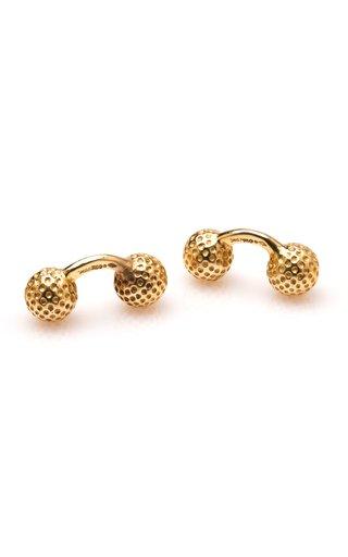 Gold Golfball Cufflinks