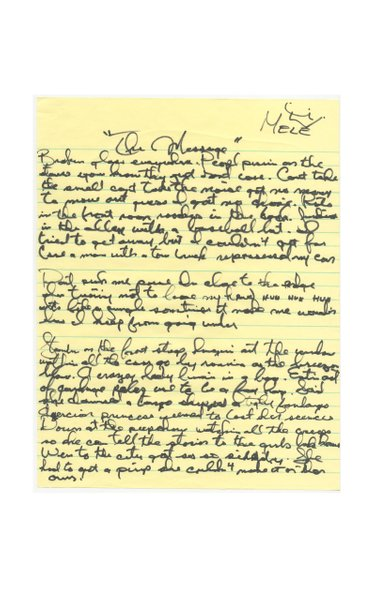 "Mele Mel – Grandmaster Flash and the Furious 5 ""The Message"" Handwritten Lyric Manuscript"