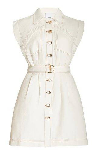 Westcroft Belted Cotton-Linen Mini Dress
